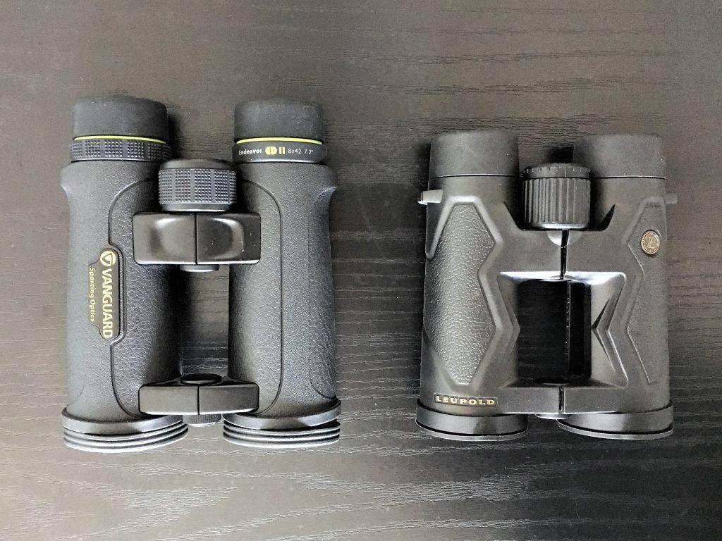 Vanguard Endeavor ED II 8×42 (left) and Leupold BX-3 Mojave 8×42 (right)