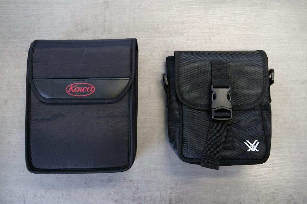 Kowa SV 10×42 and Vortex Crossfire 10×42 Bags