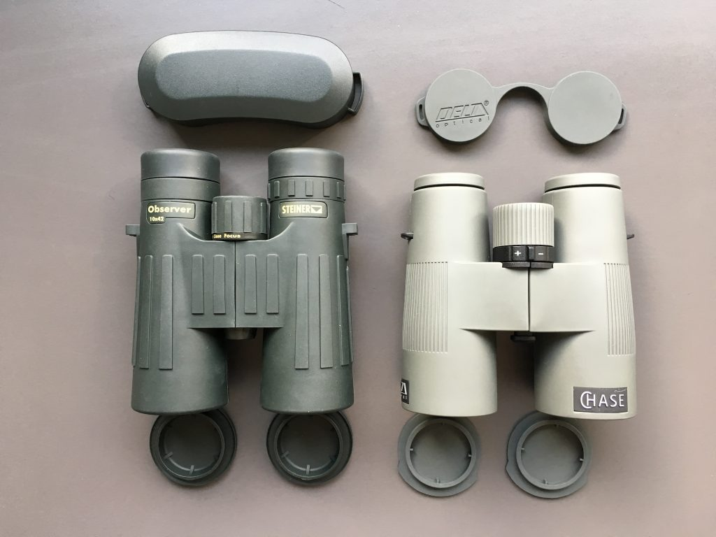 Steiner Observer 10x42 And Delta Optical Chase 10x42 ED