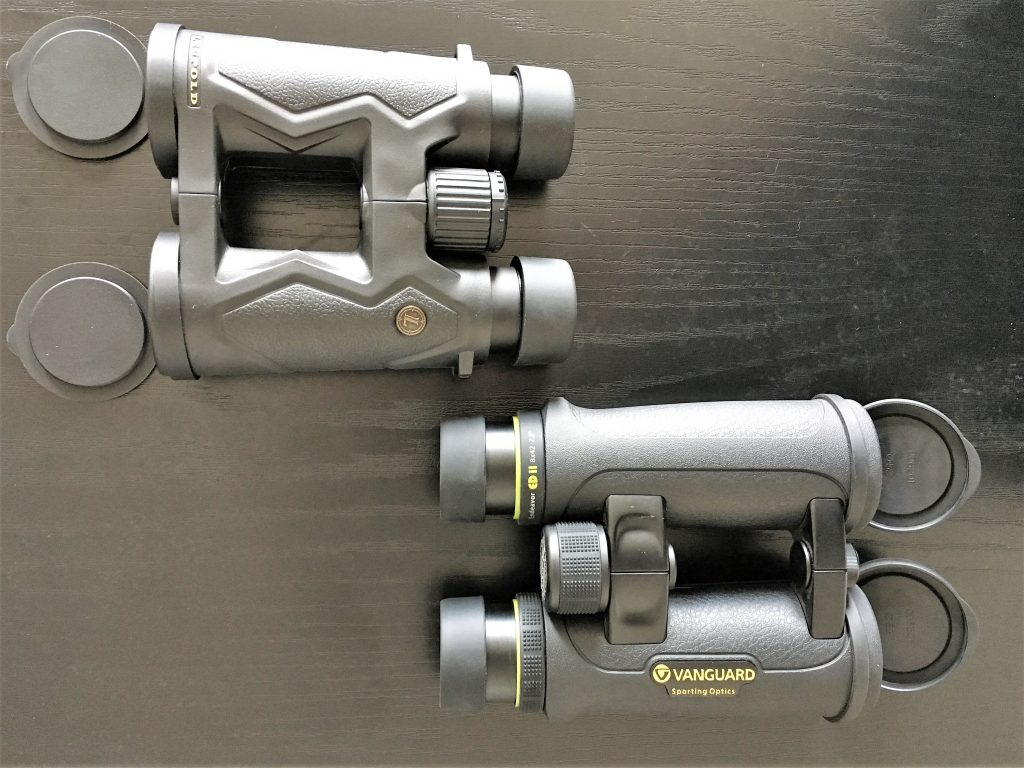 Leupold BX-3 Mojave 8×42 (above) And Vanguard Endeavor ED II 8×42 (below)