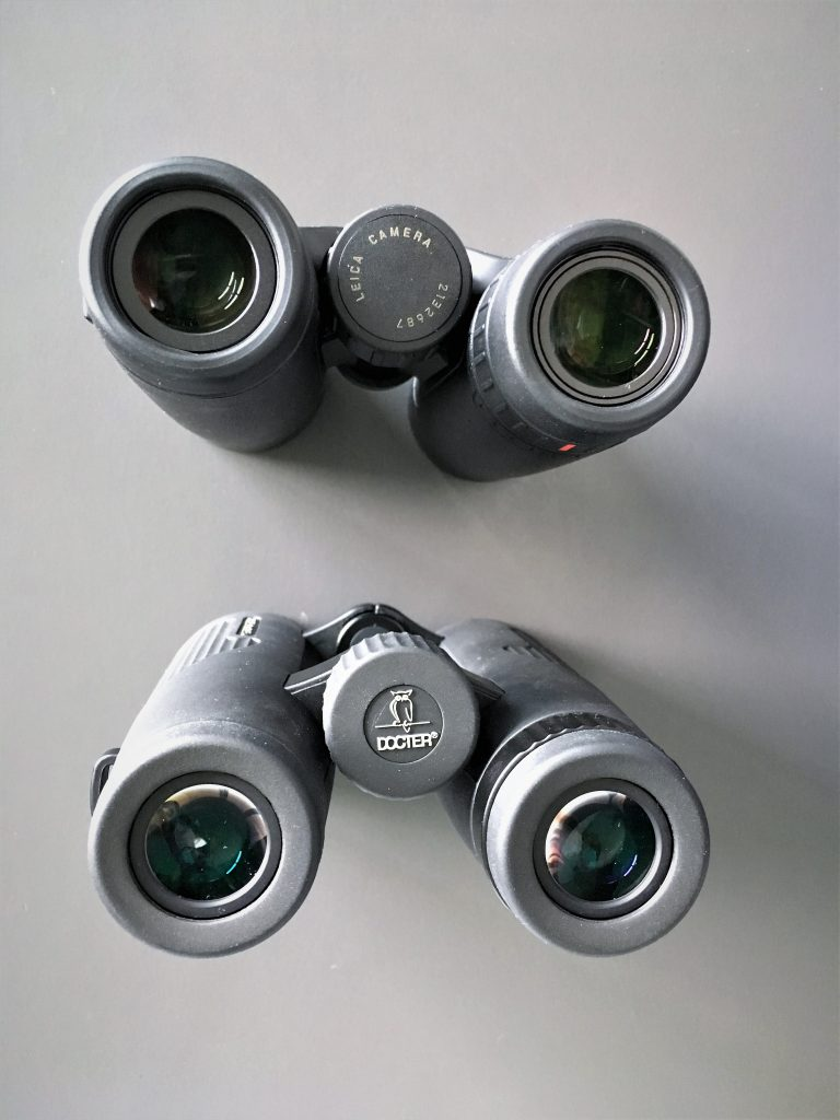 Leica Trinovid 8x42 HD (above) and Noblex ED 8x42 (below)